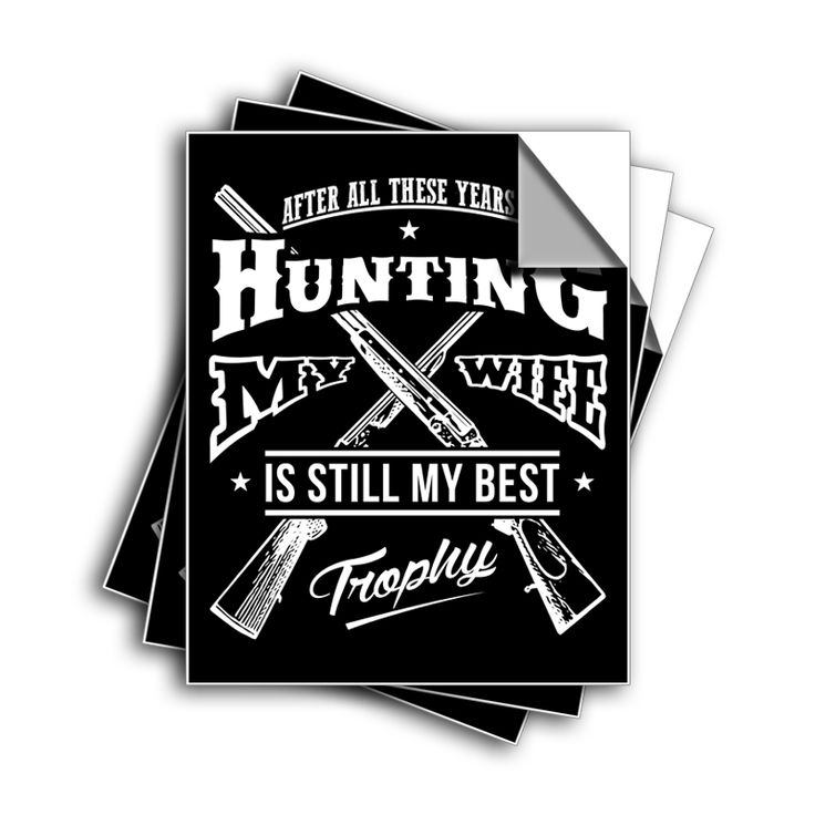 """FREE SHIPPING - """"Hunting Trophy"""" Vinyl Decal Sticker (5"""" tall) - Limited Time Only!"""