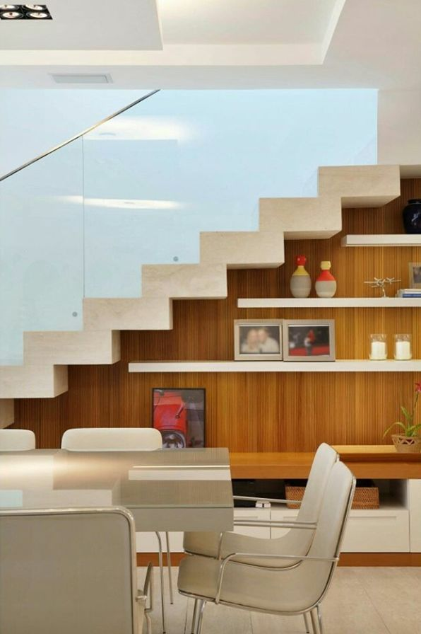 Wall under stairs