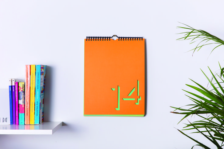 Each page of this innovative calendar is die-cut to reveal the page beneath, creating a subtle three-dimensional effect and piece of wall art that changes every day.