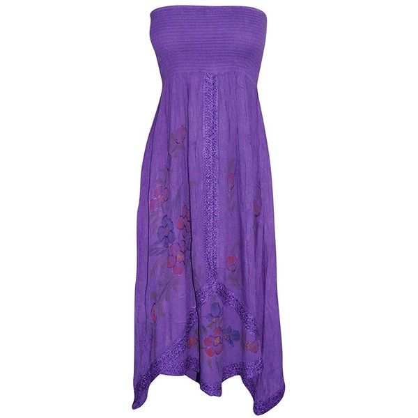Womens Sundress Purple Smocked Bodice Boho Gothic Dresses S ($24) ❤ liked on Polyvore featuring dresses, purple day dress, boho sundress, purple sun dress, smock dress and boho chic dresses