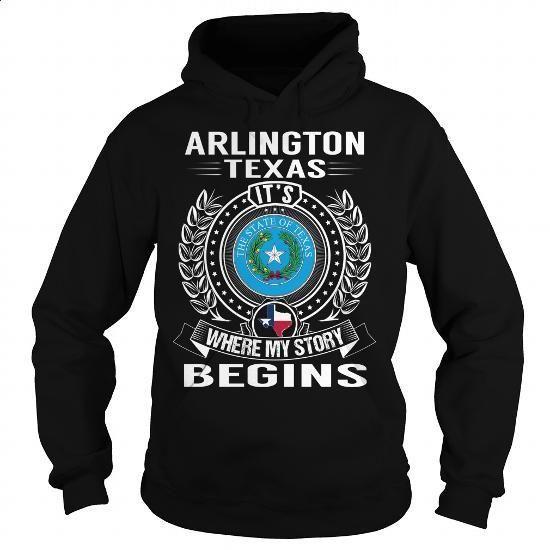 Arlington, Texas Its Where My Story Begins - #zip up hoodies #hooded sweatshirt dress. CHECK PRICE => https://www.sunfrog.com/States/Arlington-Texas-Its-Where-My-Story-Begins-105737431-Black-Hoodie.html?60505