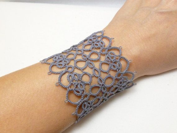 Check out this item in my Etsy shop https://www.etsy.com/listing/174603324/large-tatted-jewelry-lace-cuff-bracelet