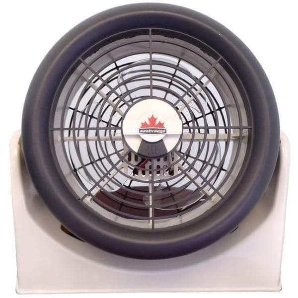 "Seabreeze 320-0 aerodynamic mini ""Turbo"" PT High Velocity Fan, White - white & charcoal"