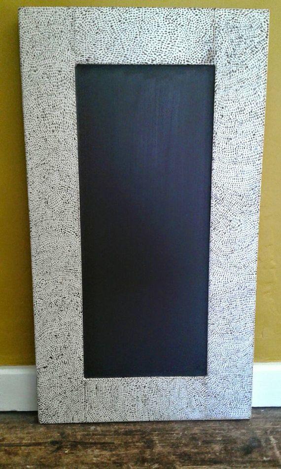Handpainted Chalkboard Large Chalkboard Message Board by JuRocks