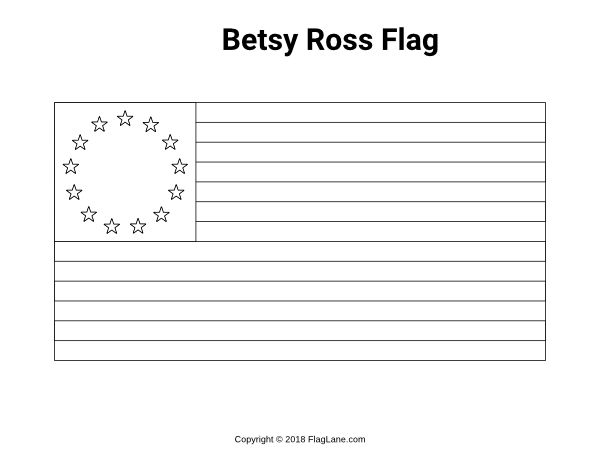 Free printable Betsy Ross flag coloring page. Download it ...