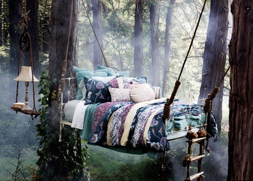 Hanging forest bed. Yes please