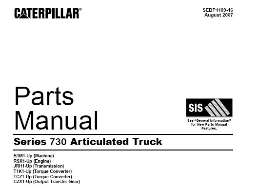 Download Complete Parts Manual For Caterpillar CAT Series