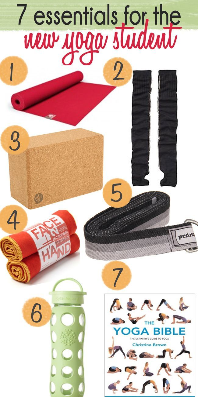 Seven essentials for the new yoga student. Could make great gifts for yogis and aspiring yogis!