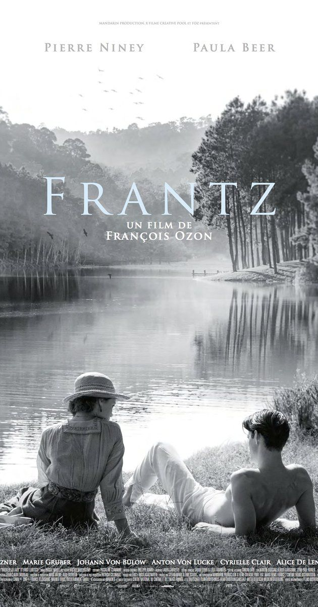 Directed by François Ozon.  With Pierre Niney, Paula Beer, Ernst Stötzner, Marie Gruber. In the aftermath of WWI, a young German who grieves the death of her fiancé in France meets a mysterious Frenchman who visits the fiancé's grave to lay flowers.