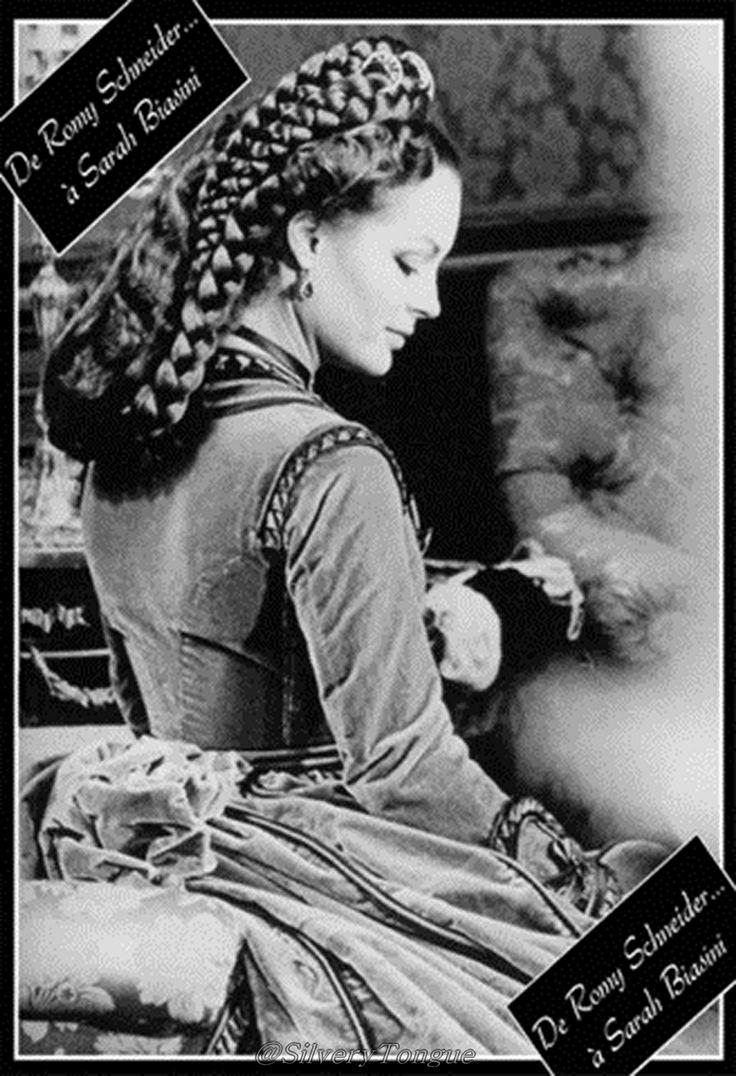 Romy Schneider as Elisabeth of Austria in Ludwig II (1972).