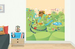 Playground - kid's bedroom mural.