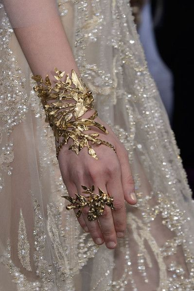 Elie Saab at Couture Fall 2015 (Details)                              …
