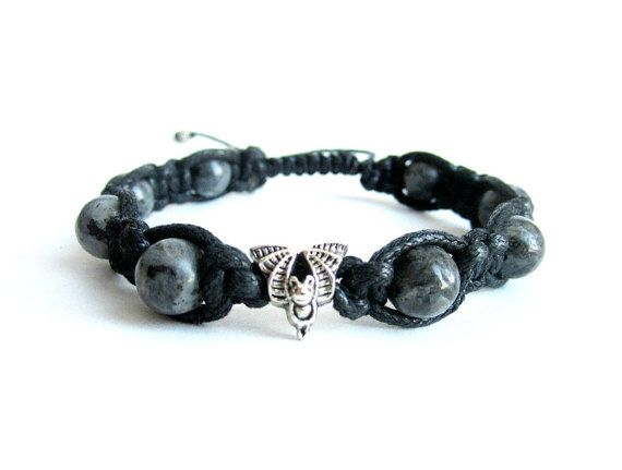Mens shamballa bracelet bat bracelet mens gray by Bravemenjewelry