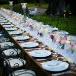 lucca wedding table arrangment on wooden table