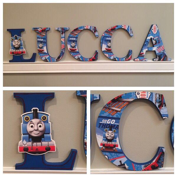 17cm Custom Wooden Letters Children's Bedroom/Nursery - Thomas The Tank Engine Theme