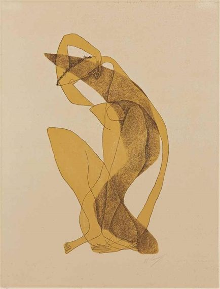 Henri Laurens - Femme assise au bras levé; Creation Date:Circa 1950; Medium