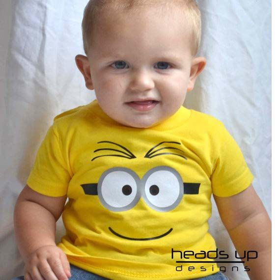 This adorable Minion inspired shirt is perfect for your little one. Use it as a simple costume or a way to to wear on any day! It also makes a great