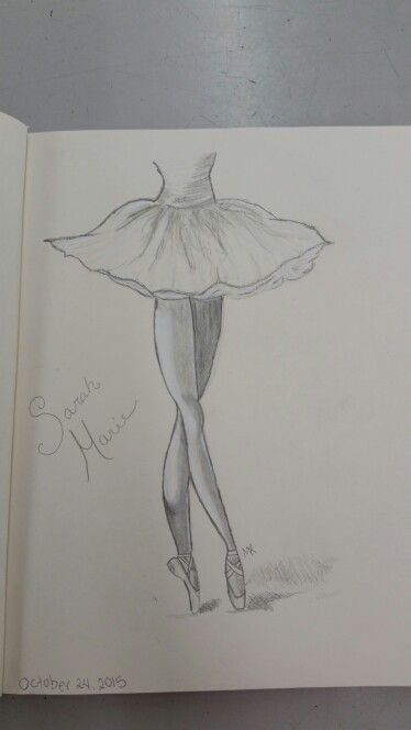 Ballerina Sketch Easy by May Young