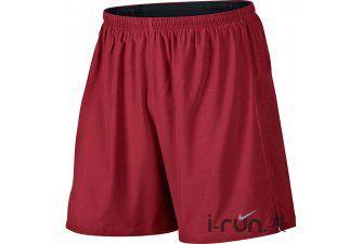 Nike Short 18cm Phenom 2en1 M pas cher - Vêtements homme running Bas-Running en promo