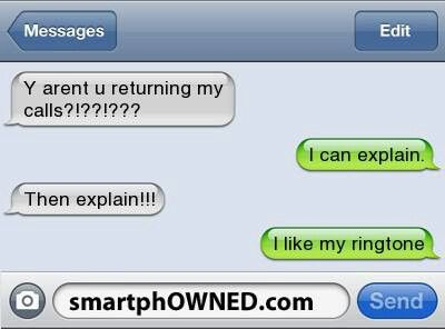 I Like My Ringtoneツ #Humor #Funny #Text_Message                                                                                                                                                     More