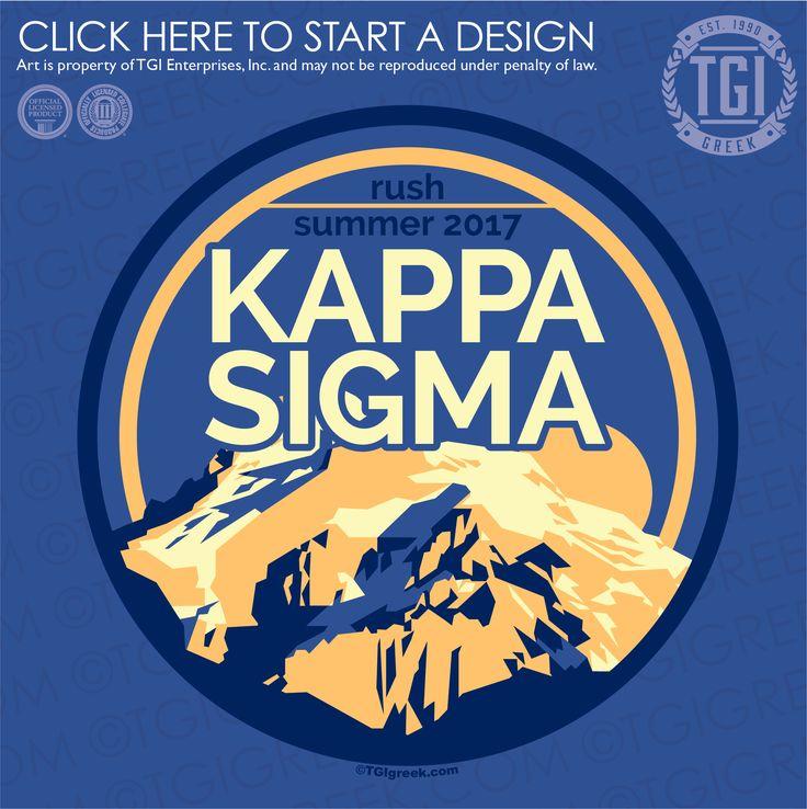 Kappa Sigma | K-Sig | ΚΣ | Summer Rush | Fraternity Rush | TGI Greek | Greek Apparel | Custom Apparel | Fraternity Tee Shirts | Fraternity T-shirts | Custom T-Shirts