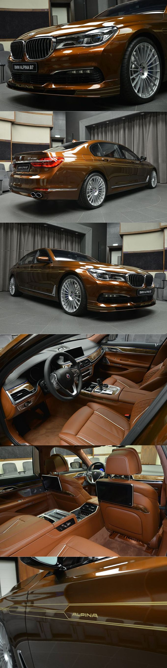 2017 Alpina B7 Bi-turbo / chestnut bronze / 608hp 4.4l V8 / BMW Abu Dhabi / Germany / brown gold / 17-388