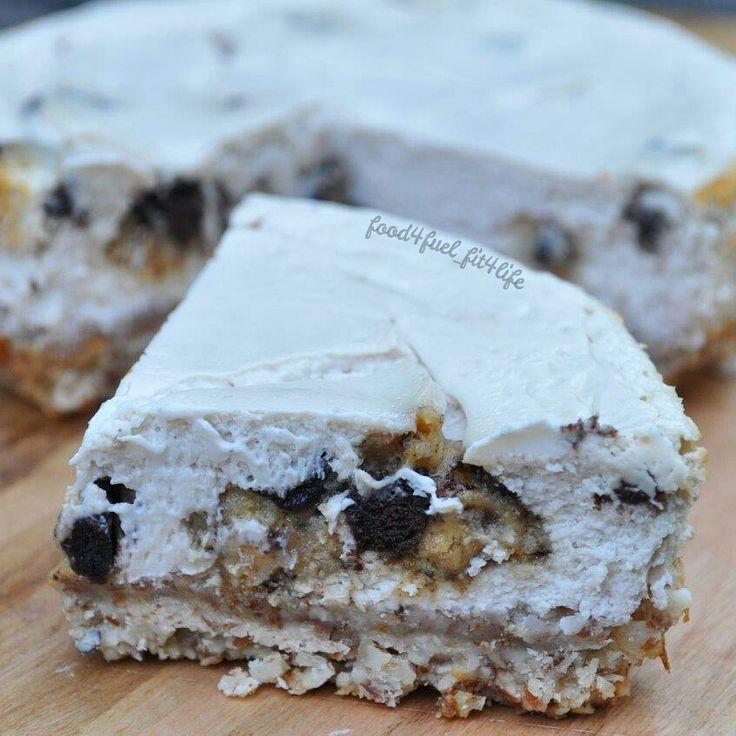 quest bar recipes | 18. Cookies N Cream Quest Bar Cheesecake