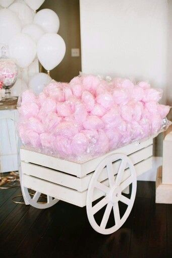 Cotton candy as favors would be cute!