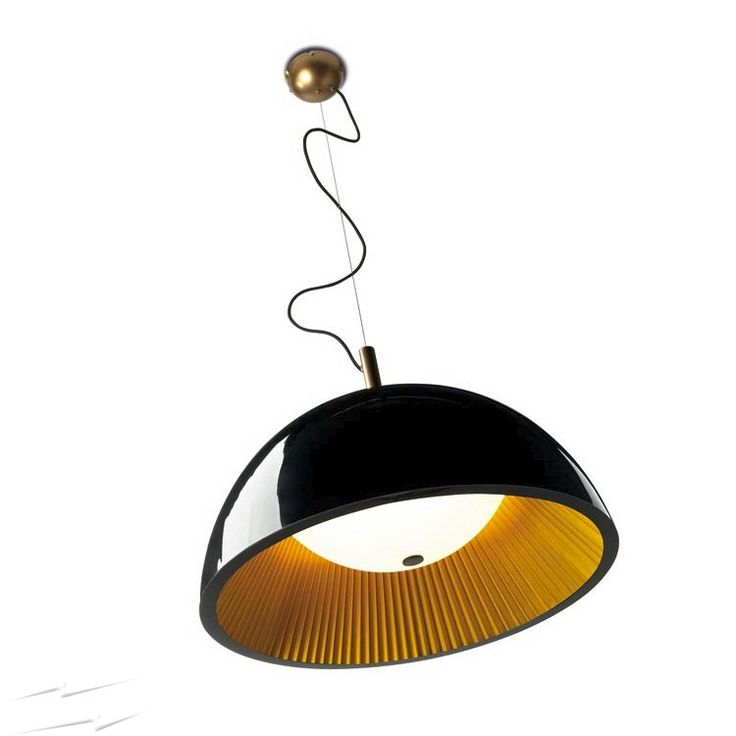 Buy this LEDS-C4 Umbrella Pendant Light Black Exterior and Gold Interior 600mm dia with Opal Glass Diffuser LX600 online from Sparks Direct at our low price of £412.90. Archway, London UK.