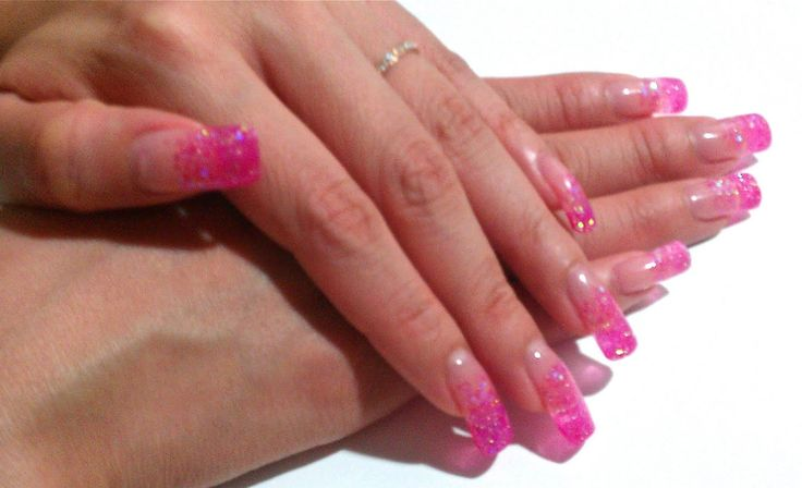 Pink and White Gel Nails | ... nail palace and got myself a beautiful set of gel nails done beautiful