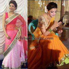 I love the orange half-saree /saree she is wearing.