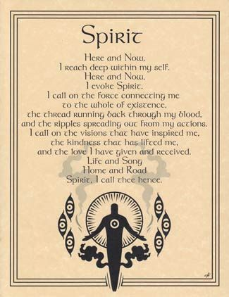 And the Spirit... Make up the five points of our sacred Pentacle