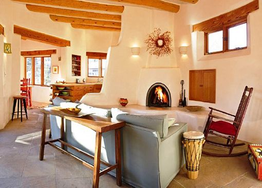 adobe guest house, Taos, NM