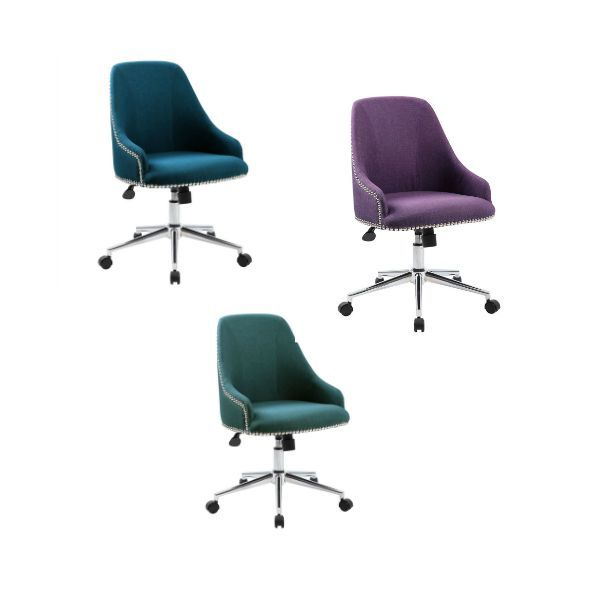 Jewel toned office seating trendy and modern chairs for your home office