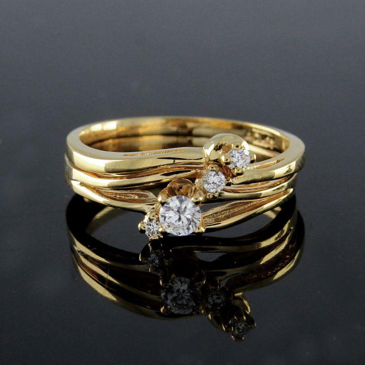0.40ct Round Cut VVS Diamond 14K Yellow Gold Plated  Bridal Ring 7 #Diamantjewels