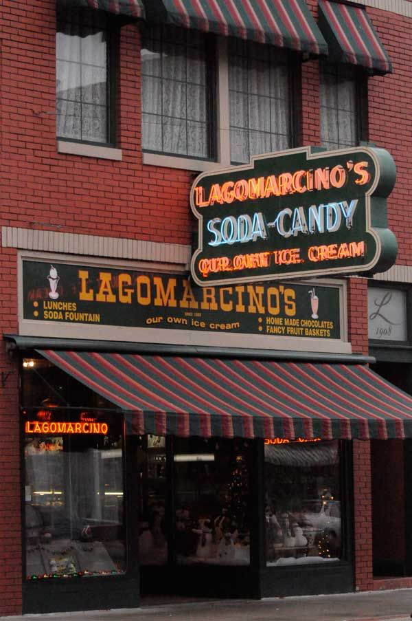 """Lagomarcino's """"The best old-fashioned ice cream parlor in the world"""" National Geographic Traveler @Enjoy Illinois @Quad Cities #ILMileMarker"""