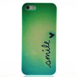 Kinston Smile Butterfly Pattern Hard Back Cover Case for iPhone 5 / 5S