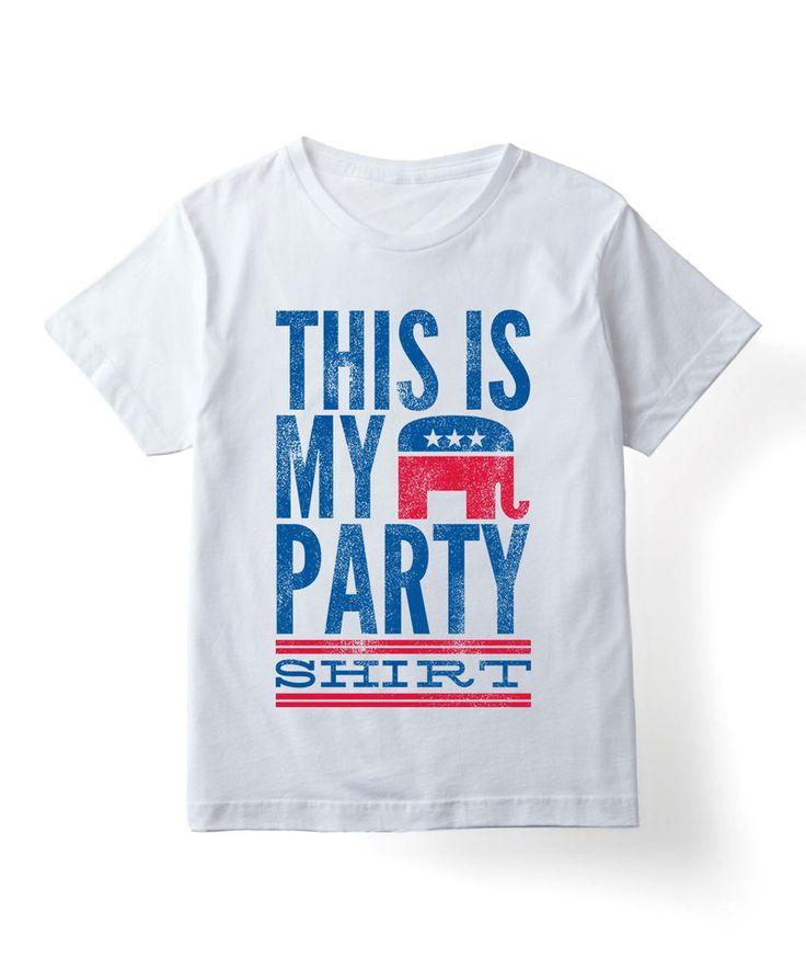 Look what I found on #zulily! White 'This Is My Party Shirt' Republican Tee - Toddler & Kids by KidTeeZ #zulilyfinds
