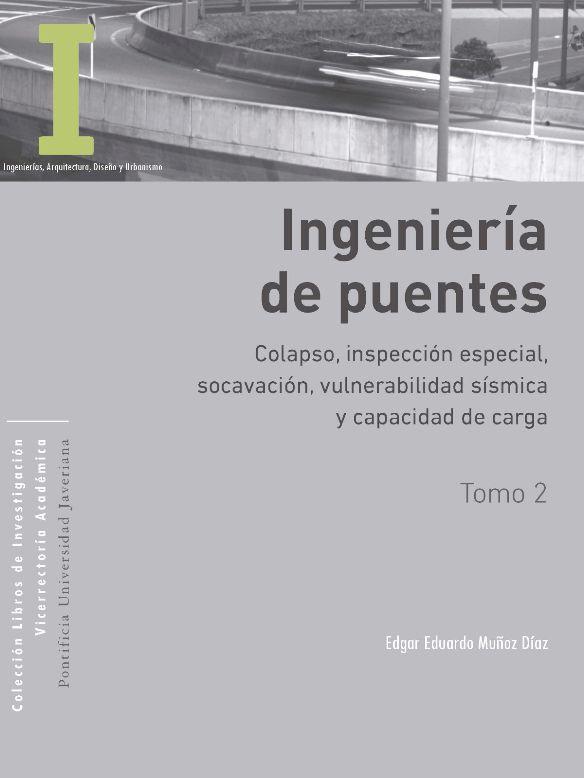 Ya está disponible la versión electrónica de este trabajo académico de investigación del ingeniero Edgar Eduardo Muñoz Díaz, profesor del Departamento Ingeniería Civil de la Facultad de Ingeniería de la Pontificia Universidad Javeriana. Libro de la colección de la Vicerrectoría de Investigación de la PUJ.