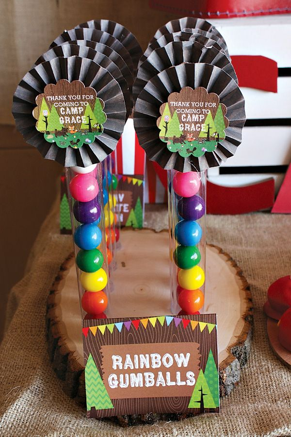 Rainbow camp arts and crafts birthday party camping for Arts and crafts birthday party
