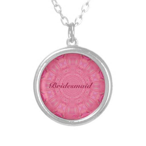 Bridesmaid Pink Digital Art Necklace