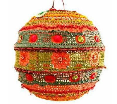 Crocheted light cover!