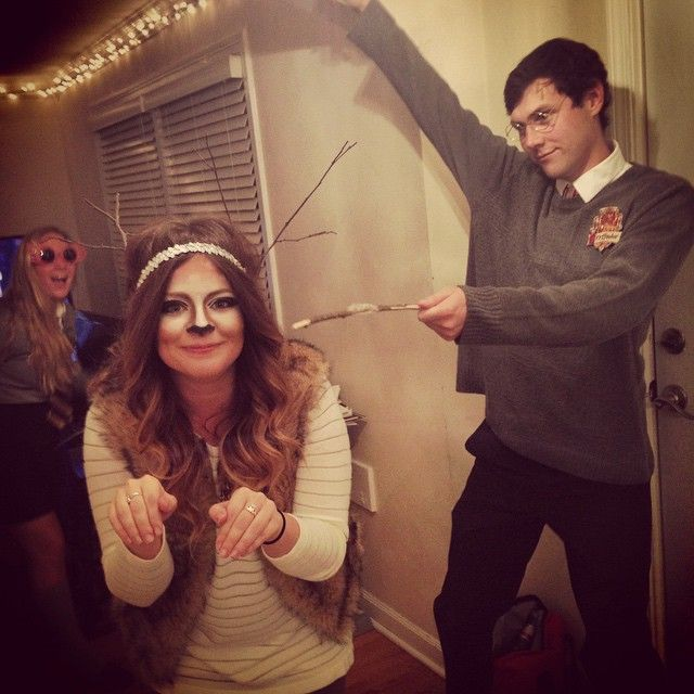 Pin for Later: 49 Flawlessly Adorable Harry Potter Couple Costume Ideas Harry Potter and Stag Patronus