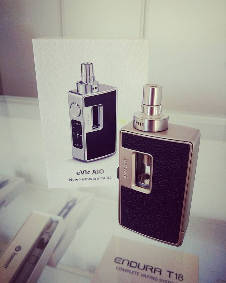 The eVic AIO is a stylish feature packed all in one box mod that doesn't break the budget. Only $74.95 @vaporaecigs. Available in stainless silver and black #newvape #aio #aussievapers