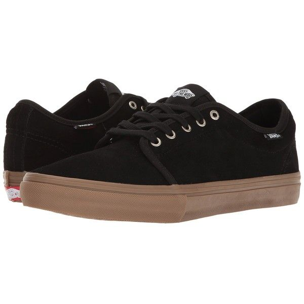 Vans Chukka Low Pro (Black/Gum) Men's Skate Shoes ($65) ❤ liked on Polyvore featuring men's fashion, men's shoes, men's sneakers, mens chukka shoes, mens chukka boots, mens chukka sneakers, men's low top shoes and mens black shoes