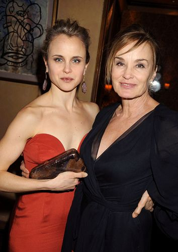Jessica Lange and daughter Aleksandra Baryshnikov by ...