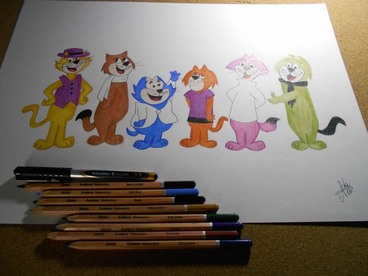 Top Cat color drawing