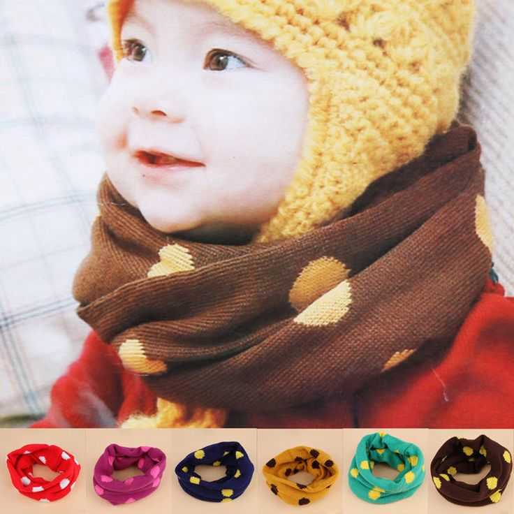 New Cute Infants Baby Young Children Warm Candy-Colored Dot Scarf Xmas Gift in Clothes, Shoes & Accessories, Kids' Clothes, Shoes & Accs., Girls' Accessories | eBay