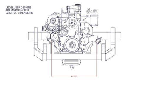 universal 4bt cummins engine mounts
