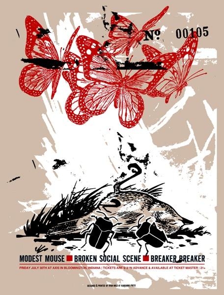 Concert Poster Modest Mouse - Broken Social Scene - Breaker Breaker